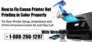 How to Fix Canon Printer Not Printing in Color Properly
